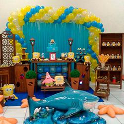 6f9f55b8973 ... Decoração para festa infantil com tema Bob Esponja ...